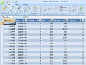 Within the PowerPivot for Excel environment, you can bring data from virtually anywhere and manipulate large data sets with ease.