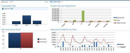 Microsoft Enterprise Project Management Portfolio Reporting graph variation