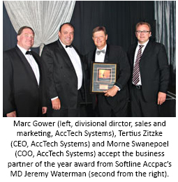 AccTech Systems Softline Accpac accolade award