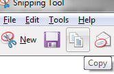 Microsoft Snipping Tool copy option