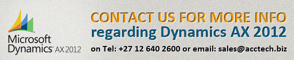 Microsoft Dynamics AX 2012 Contact Us
