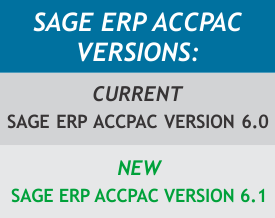 Sage ERP X3  Accpac Versions 6 and 6.1