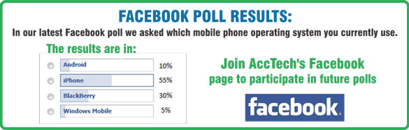 a graphic displaying AccTech Systems Facebook poll results