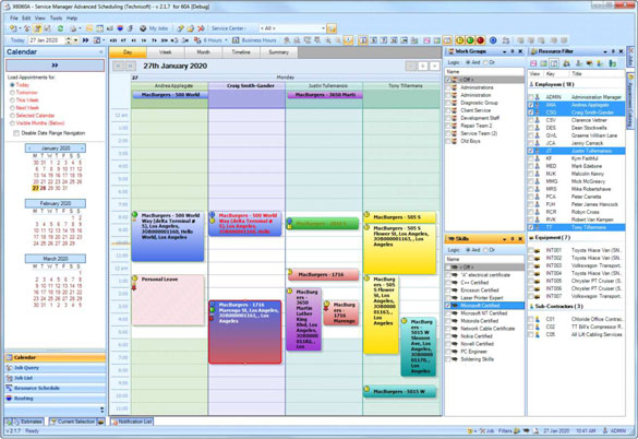 Advanced Scheduling's Calendar View in Microsoft Outlook ensures easy adoption due to the familiar user interface.