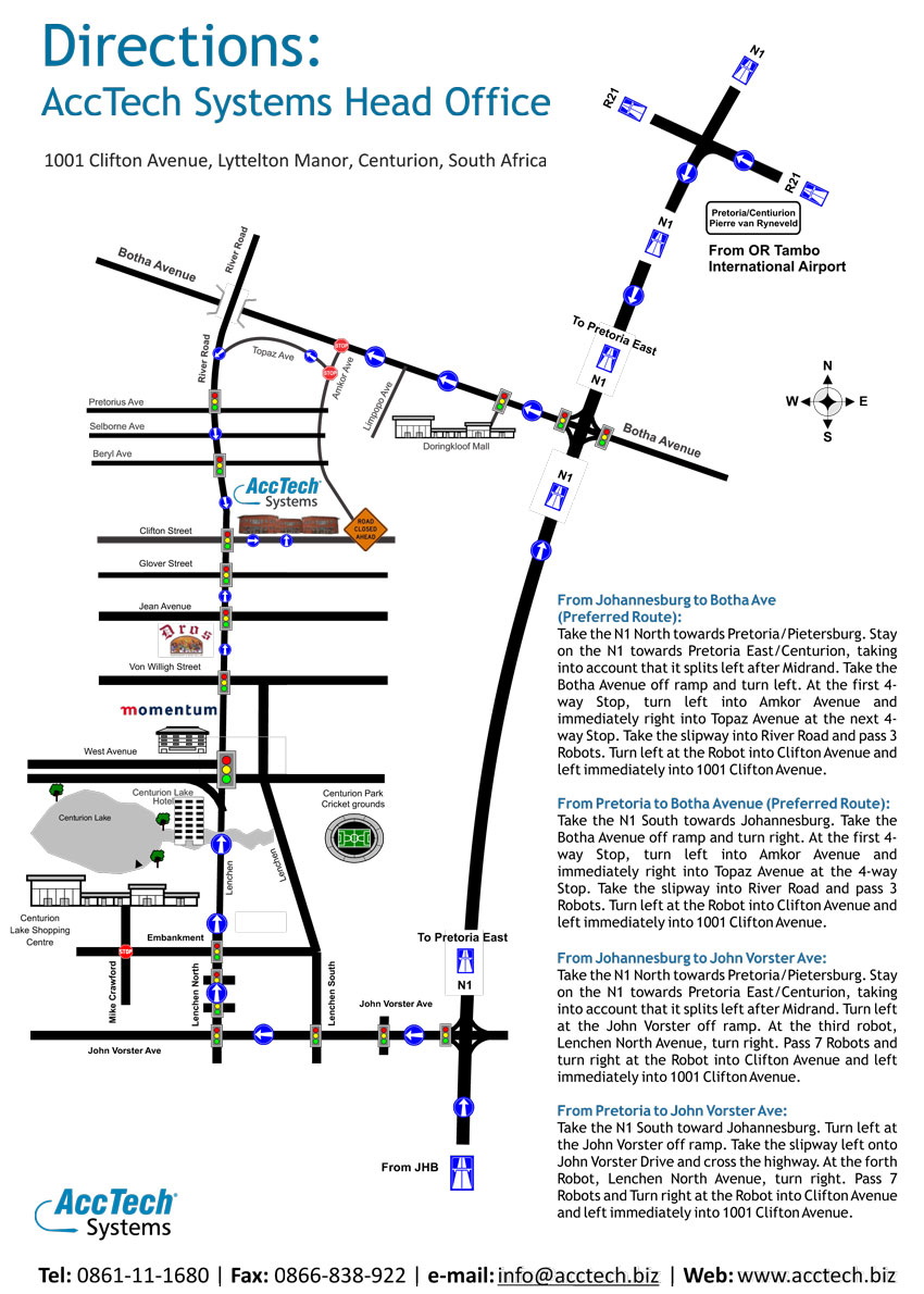 Directions to AccTech Systems 2014